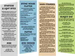 Stone House Bar Menu